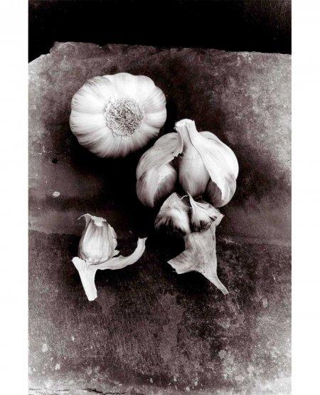 Ail-Violet Garlic on Cumberland Slate