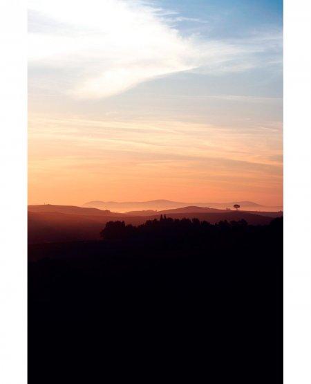 Sunrise. Tuscan Hills near Siena, Italy