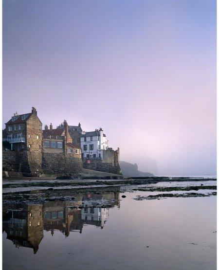 Misty dawn, Robin Hood's Bay  North Yorkshire Coast