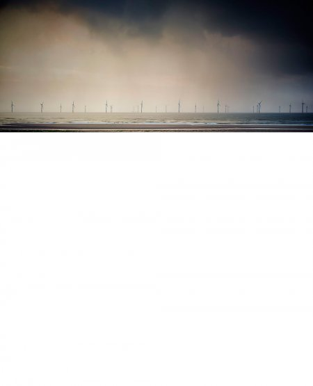 Offshore wind turbines, Redcar  North Yorkshire