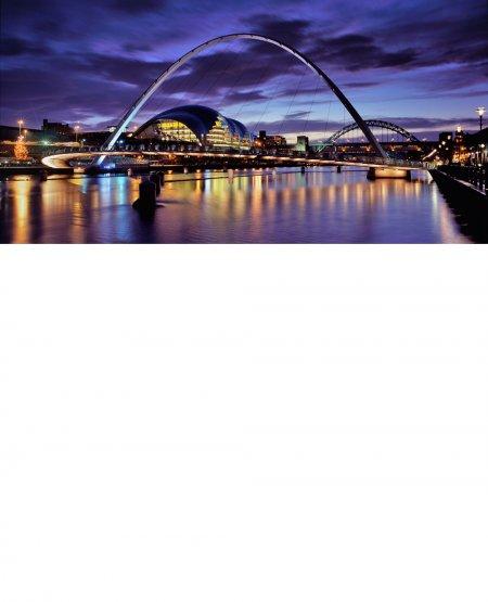 Tyne riverscape, twilight  Tyneside