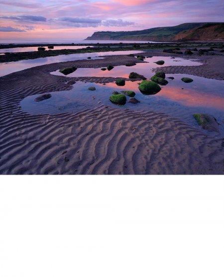 Tidal pools, dawn, Robin Hood's Bay  North Yorkshire Coast