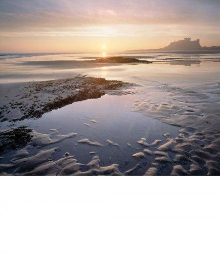 Bamburgh, winter sunrise  Northumberland