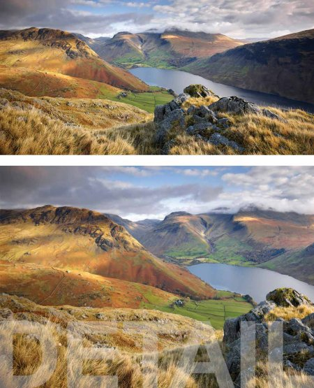 Yew Barrow, Scafell Pike and Wast Water, autumn