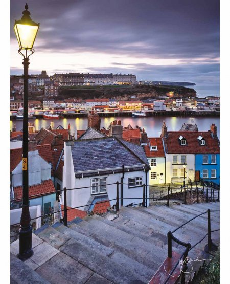 199 steps, Whitby, twilight