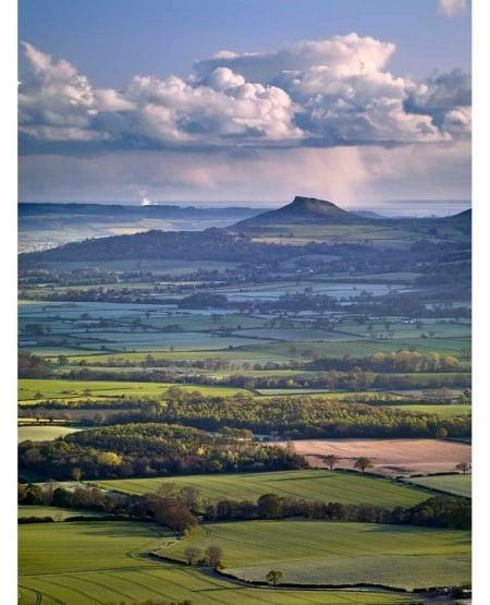April shower, Roseberry Topping  North York Moors