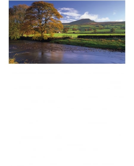 October Morning, River Ribble and Pen-y-ghent