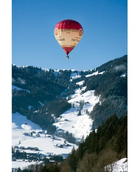 Taittinger Hot Air Balloon - Swiss Alps