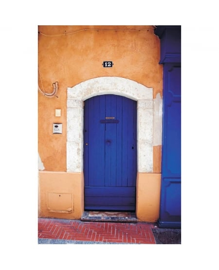 Deep blue door, Sanary sur Mer, Art Print