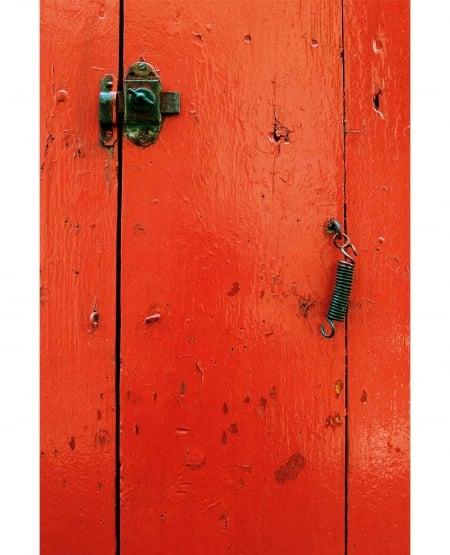 Provencal Red Barn Door