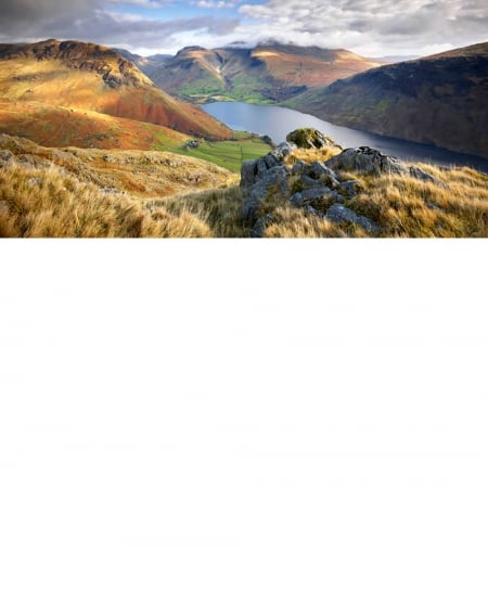 Yew Barrow, Scafell Pike and Wast Water - Greetings Card