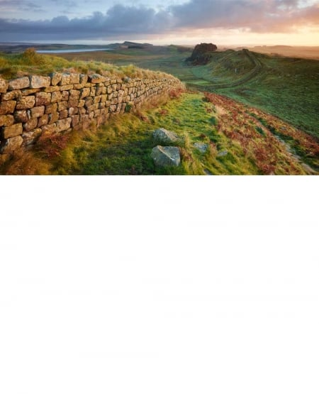 Hadrian's wall, sunrise