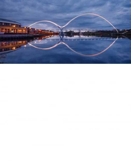 Infinity bridge, twilight - Greetings Card