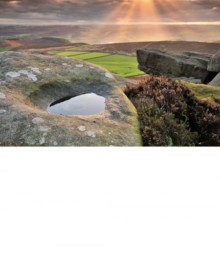 From Stanage Edge, Peak District