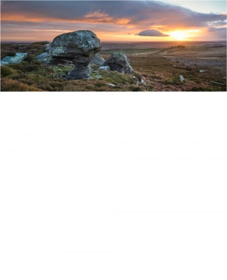 Winter Dawn on High Crag, Heyshaw Moor, Nidderdale