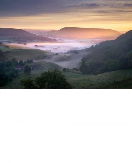 Hawnby, summer sunrise