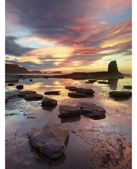 Summer sunset, Saltwick