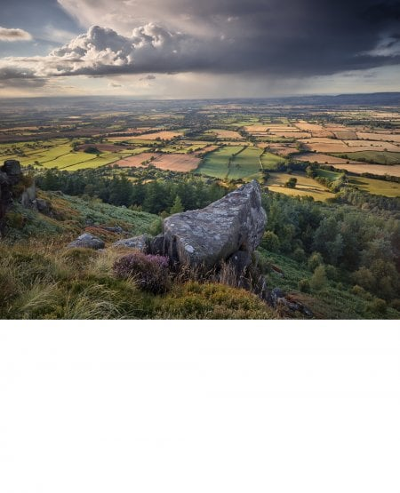Storm over Teesside from Hasty Bank, late summer
