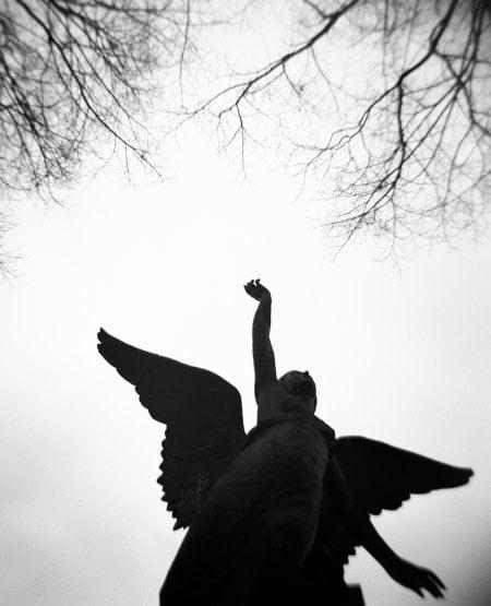 Angel Statue.Montparnasse Cemetery, Paris