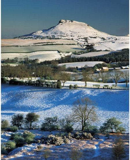 Roseberry Topping and Ayton Banks Farm, winter