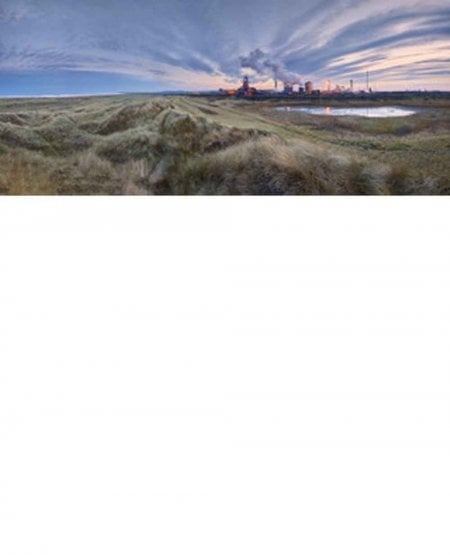 Steelworks looking towards Saltburn Nab and Huntcliff