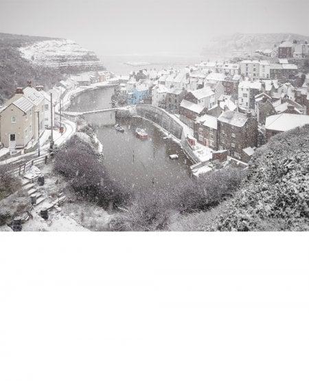Staithes, heavy snow