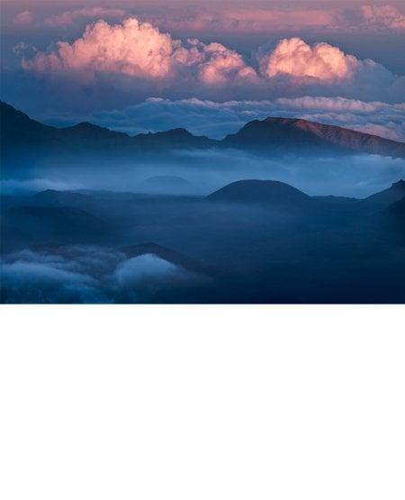 Last light summit, Haleakala Volcano, Hawaii