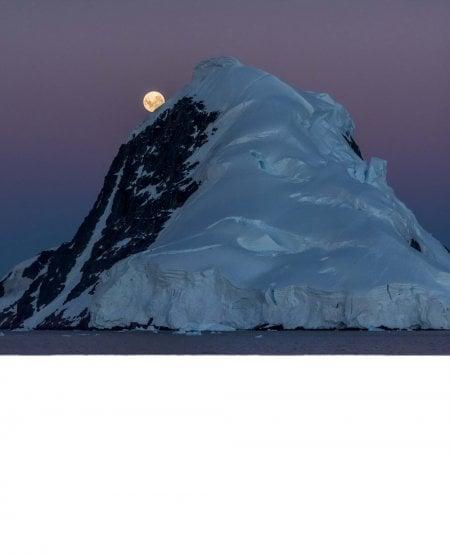 Moonrise, Gerlache Strait, Antarctic Peninsula