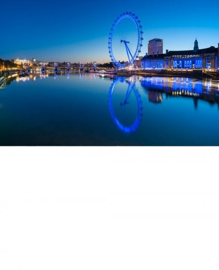 London Eye, blue panorama