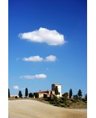 Tuscany Landscape- Grain Store with clouds