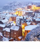 Snow comes to the North Sea, Staithes  North Yorkshire Coast