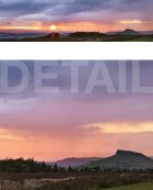 Rainstorm at sunset, Roseberry Topping  North Yorkshire