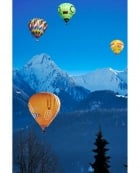 Hot Air Balloon Ascent, Gstaad, Swiss Alps