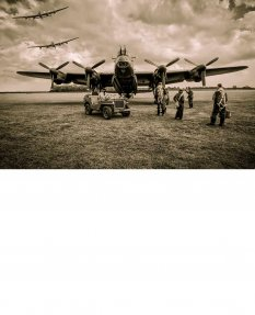 Three Lancaster Bombers Print - East Kirkby 'Ready to Go!'