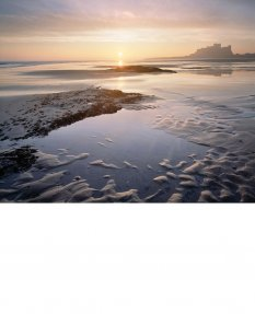 Bamburgh, winter sunrise  Northumberland