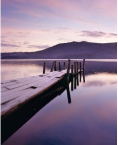 Derwent Water, winter dawn
