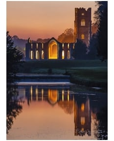 Fountains Abbey at Dusk