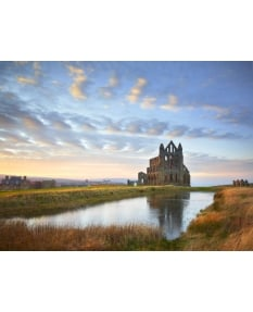 Evening light, Whitby Abbey
