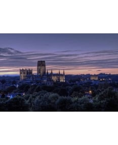 Durham at dusk