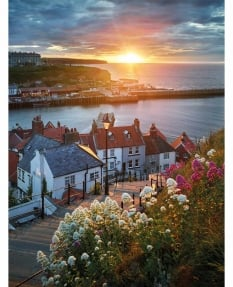 Whitby, summer solstice, sunset
