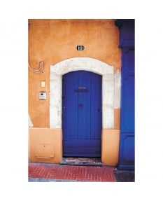 Deep blue door, Sanary sur Mer, Art Print