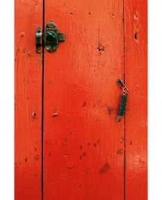 Provencal Red Barn Door