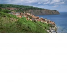 Robin Hood's Bay Town - Greetings Card