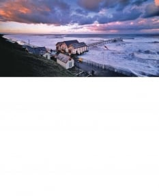 High Spring tide, retreating storm, Saltburn