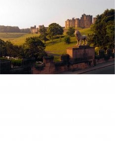 Alnwick Castle and the Lion Bridge
