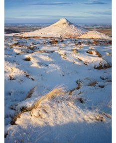 Roseberry Topping eastern profile, winter morning