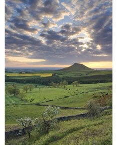 May sunset, Roseberry Topping