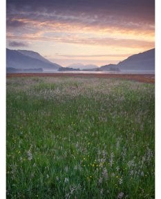 Sunset, Loch Leven, summer